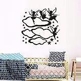 Pegatinas de pared calcomanías de arte decoración decoración personalidad divertida jardín de infantes nube estrella niña 57x57 cm