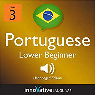 Learn Portuguese - Level 3: Lower Beginner Portuguese audiobook cover art