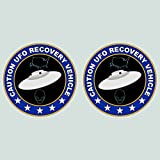 fagraphix Two Pack UFO Recovery Vehicle Sticker Decal Vinyl Alien Flying Saucer FA Vinyl