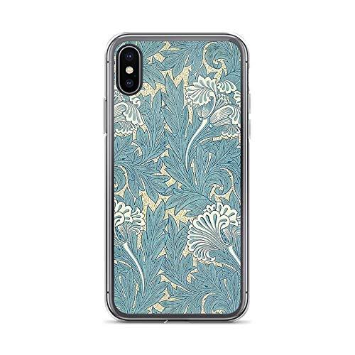 William Morris Tulipani - Cover per iPhone 7 Plus/8 Plus, colore: Blu