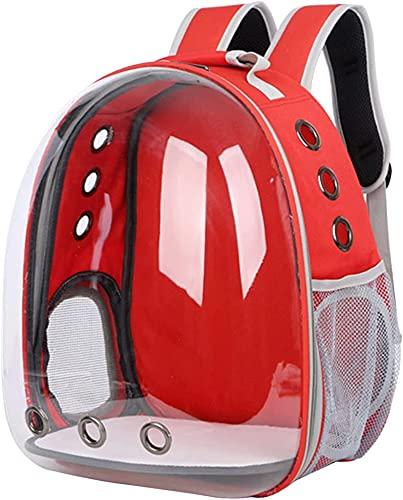 Mochila de la compañía de mascotas, cápsula del espacio para perros de mascotas, cajas de transporte portátiles, bolsa de transporte para viajes, mochila de cápsula transpirable, soporte hasta 15 kg