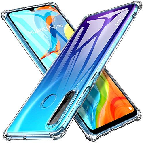 KuGi für Huawei p30 lite Hülle, Huawei Nova 4 lite Schutzhülle Soft TPU Case Ultradünn Cover [Slim-Fit] [Anti-Scratch] [Shock Absorption] passt Designed für Huawei p30 lite Smartphone - Kristall Klar