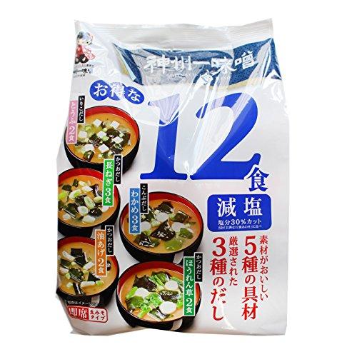 Shinsyuichi (blau) dunkle Genen(weniger salzig) Instant Misosuppe 12 Portionen 181,1g