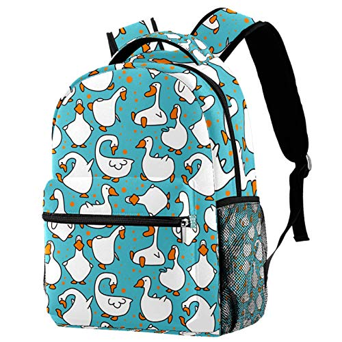 Mochila Impermeable Pájaro del Ganso Mochila Infantil Impermeable Bolsa para la Escuela Impresión Creativa Mochila de Viaje para Niños y Niñas 29.4x20x40cm