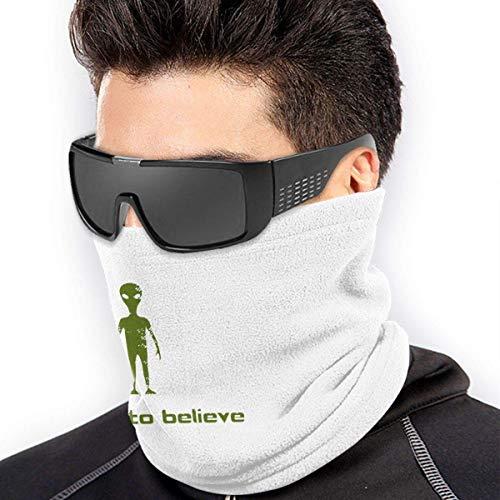 QDAS mannen vrouwen Ik wil an Aliens geloven, UFO neck, bewarmer thermische haarband voor hoofdwikkels, zwart