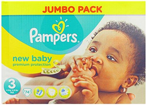 Pampers, Pannolini New Baby, 74 pz, Taglia 3