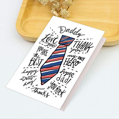 Tarjeta de felicitación para el día del padre, regalo para el día del padre, tarjeta de felicitación para el mejor regalo para papá, saludos escritos a mano gracias al papá el mejor