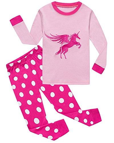 Girls Pajamas Horse 100% Cotton Toddler PJS Kids Shirts Children Sleepwear Clothes Size 8t