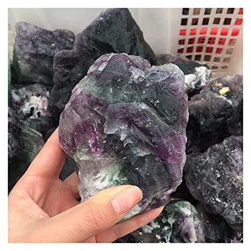 YSJJSQZ Cristal áspero 800-900G Tamaño Grande Natural Crudo Natural Fluorita Piedra áspera Cristales Naturales de Cuarzo Natural Piedra de energía Mineral para curación