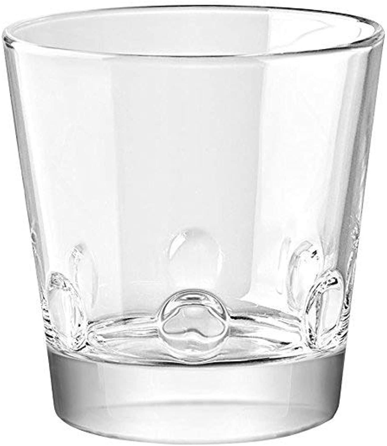 Barski European Glass - Double Old Fashioned Tumbler Glasses - Uniquely Designed - Stackable - Won't Get Stuck - Set of 6 - 12 oz. - Made in Europe