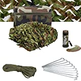 Kids Army Den Making Kit - Camo Net - Includes Bag, Paracord, Pegs & Paint