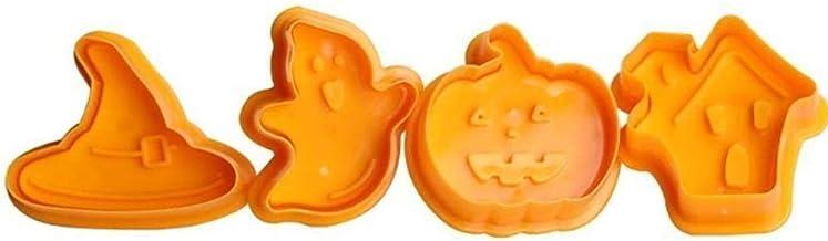 N/R 1pc Caucho de Silicona Herramientas de Pastel de Cocina de Halloween Herramientas para Hornear, Naranja