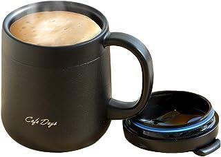 アイリスオーヤマ マグボトル 保温 保冷 ブラック 0.38L ふた付き 2WAY飲み口 カフェデイズ CD-2WT380