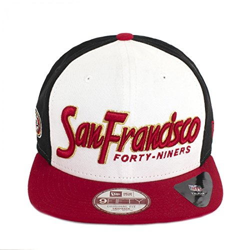 New Era Seasonal Script San Francisco Casquette snapback Blanc Rouge 80194954 Small Medium