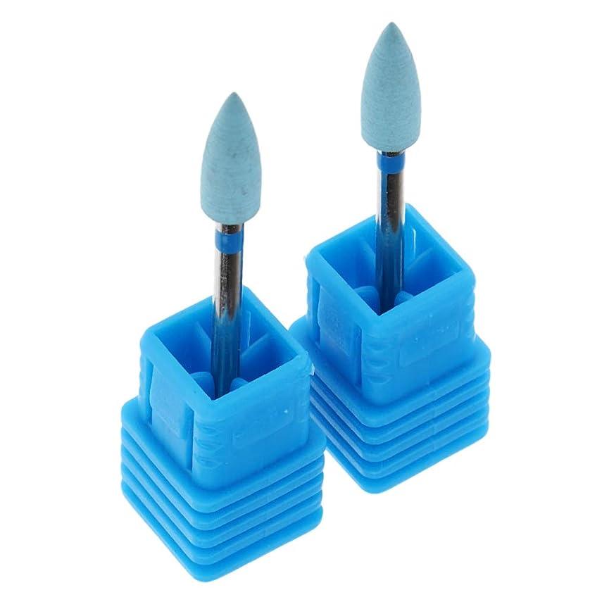 配管工湿度元に戻すCUTICATE 2本入り ネイルサロン ネイルドリルビット ネイルアートツール 6サイズ選択 - X04