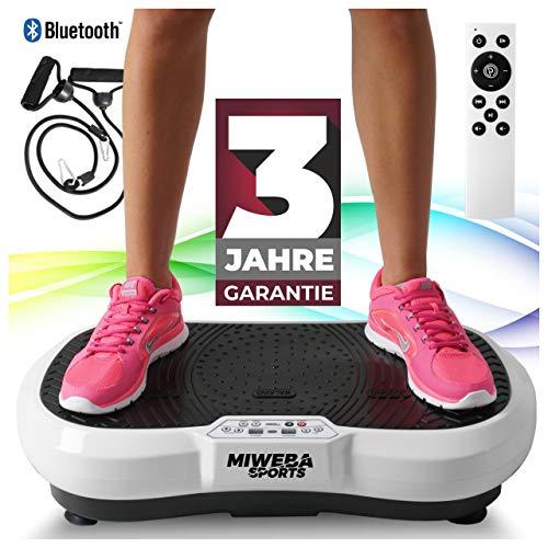 Miweba Sports Fitness 2D Vibrationsplatte MV100-3 Jahre Garantie - 3 multidimensionale Vibrationszonen - Oszillierend - 250 Watt (Weiß)