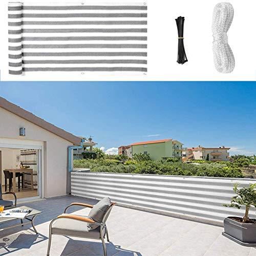 WXQIANG Tela de sombra, 90% de malla de bloqueo solar con ojales para cubierta de pérgola, porche, pantalla vertical, balcón, valla de privacidad, 16 tamaños, protección solar, aislamiento térmico,