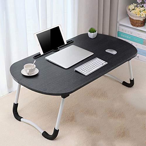 Opvouwbaar Tafel-Opvouwbaar Bureau Klaptafel Laptop Bed Tray Table Study Table Breakfast Bed Tray Verticaal Tafel En Sofa Table Portable Folding Tafel Thuis op kantoor en reizen (Color : Black)