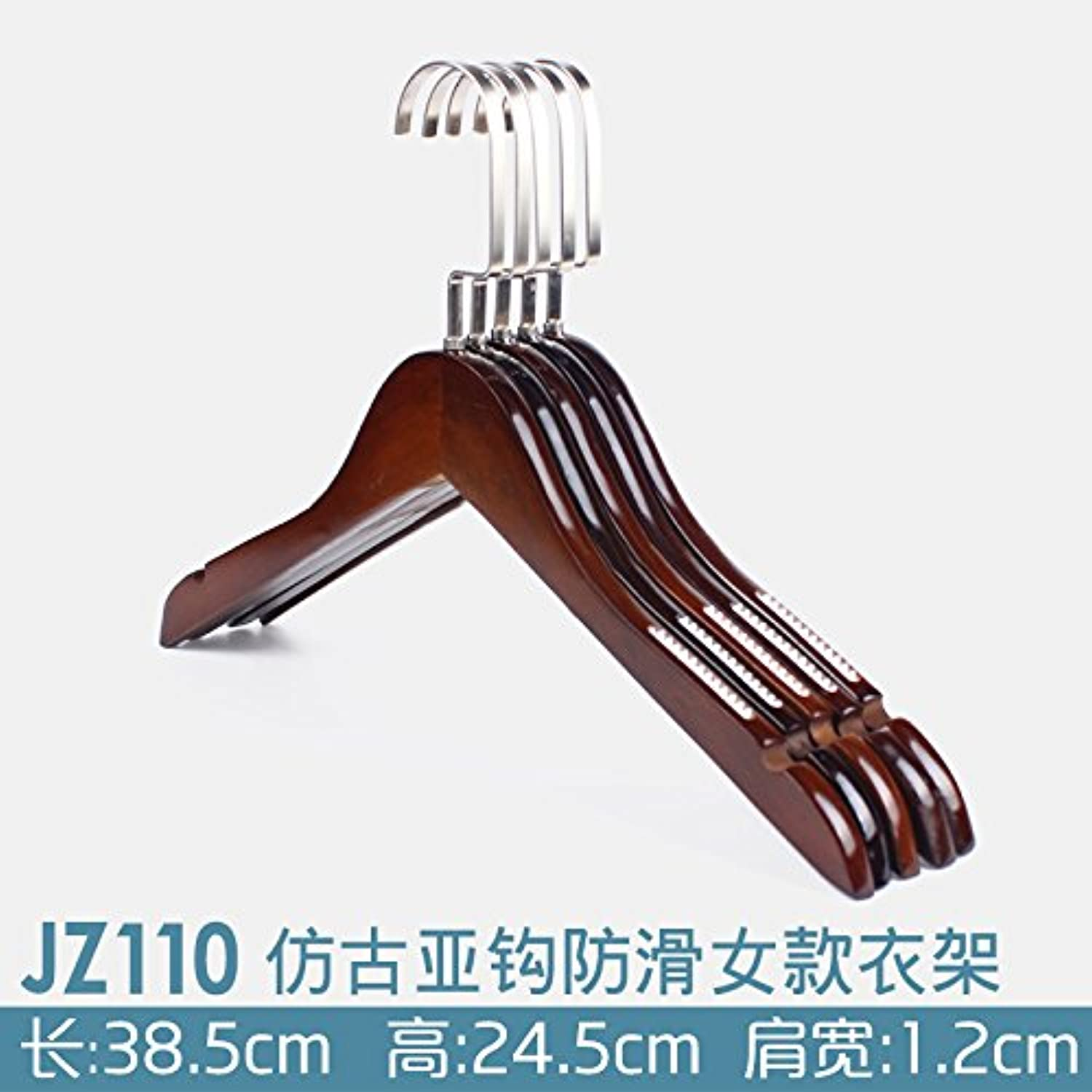 U-emember Home Suits Non-Slip Wooden Coat Hangers Wooden Poles Adult Clothing And Non-Marking Solid Wood Hangers ,100,Jz110- Coat Hanger With Anti-Slip The Hooks 6601