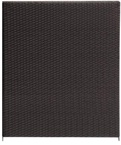 Gartenfreude Brise-Vue/clôture en résine tressée, châssis en Aluminium, résistant aux intempéries, clôture en résine tressée Double Face, Couleur Moka, 80 x 4 x 90 cm (L x P x H)