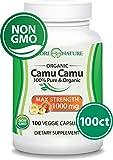 Madre Nature - Organic Camu Camu Berry - 100 Vegan Capsules - Natural Vitamin C for Immune Support,  Antioxidant Protection - Fresh Harvest from Peru