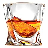 Ashcroft Twist Whiskey Glass - 10oz - Set or 2 - Unique Modern Rocks Whisky Glasses are Lead Free Crystal Glasses for Scotch or Bourbon - Luxury Gift Box - The Ideal Old Fashioned Glass