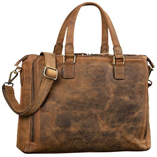 STILORD 'Claire' Businesstasche Damen Leder 15 Zoll Laptoptasche DIN A4 Aktentasche...