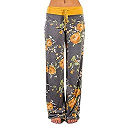 🍀SUMMER ADVANCE PROMOTION: Save 80% by enter code ☛☛☛EJXN65WY☛☛☛ at checkout. 🍀This floral printed summer long wide-leg pants is designed with high waist, perfect to show your graceful figure, adjustable waist drawstring for added comfort. Made of hi...