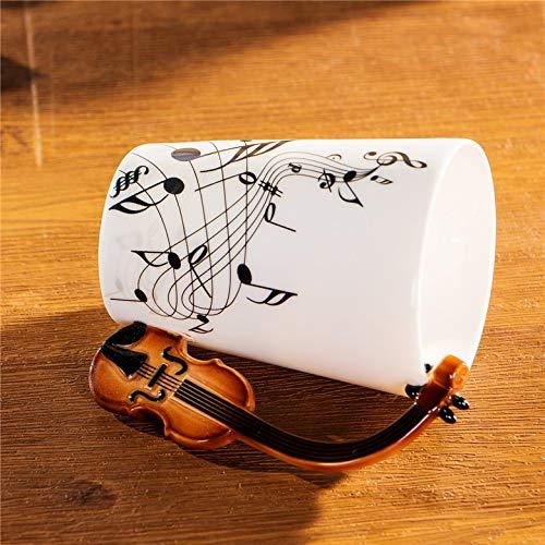 240/400 ml beker bier cup creatieve vioolmuziek china kopje koffie kopje keramische kopje thee thee decoratie grappig gift,240ml