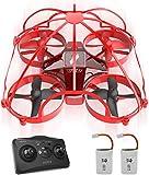 ATOYX AT-66D Drone Enfant Hélicoptère Télécommandé avec Mode sans Tête Mini Drone avec Télécommande Jouet et Cadeau pour Enfant et Débutant (Rouge)