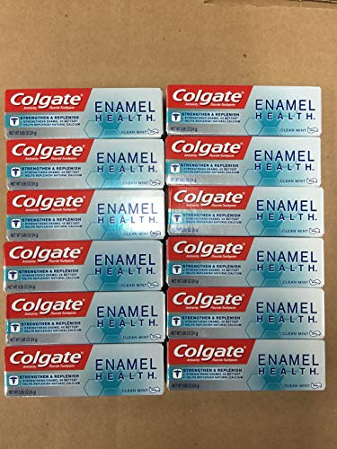 Colgate Enamel Health Strengthen & Replenish Toothpaste, Clean Mint, Travel Size 0.85 oz - Pack of 12