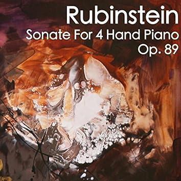 Rubinstein Sonate For 4 Hand Piano, Op. 89