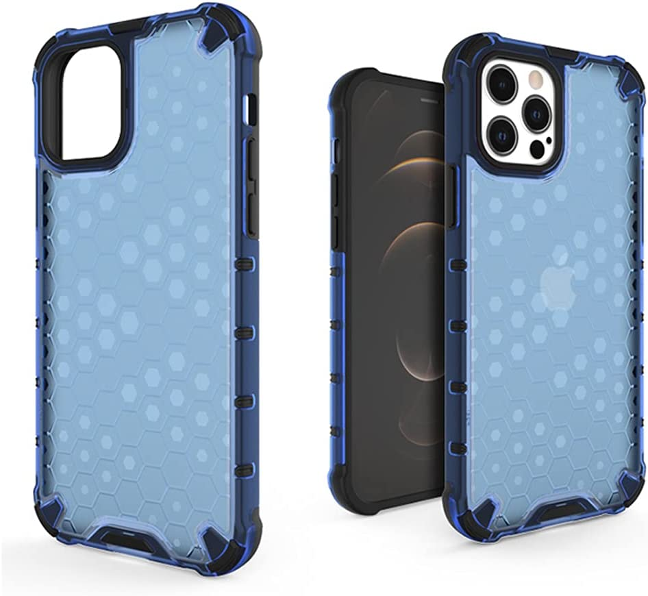 SUPARDS Hybrid Bumper Case Compatible with iPhone 12 Pro Max, for iPhone 12 Pro Max(6.7inch) Protective Case Cover, Shockproof Case with Soft Bumper(PC+TPU) for iPhone 12 Pro Max(A_Blue)