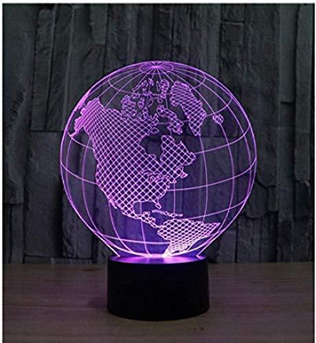 3D Nachtlicht Globus Optische Lampe 20 Farbwechsel Mit App Steuerung & Smart Touch Tischlampe Stimmungslampe Besten Geschenke Für Kinder (App Steuerung & Smart Touch)
