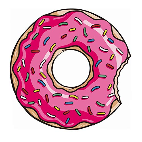 RdChicLog Manta Redonda de Playa Toalla Redonda Donut Gigante Mantas de Picnic Alfombra de Yoga (Donut)