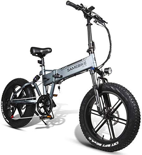 Bicicletas eléctricas para adultos Bicicleta eléctrica, bicicleta de montaña plegable luz 500W del motor de la batería de litio 48V10AH, resistencia 30-50km, asiento ajustable, amplio soporte de carga