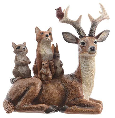 Unbekannt Rentier mit Tieren auf dem Rücken, 15,5 cm