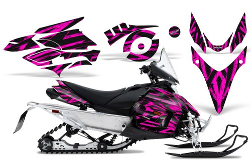 CreatorX Graphics Kit Decals Stickers for Yamaha Phazer Rtx Gt Mtx Snowmobile Sled Tribal Madness Pink