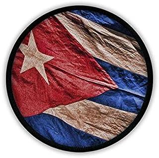 24 essbare Cupcake Toppers Geburtstagskuchendekorationen einfach vorgeschnittene Kreise. Kuba Flagge