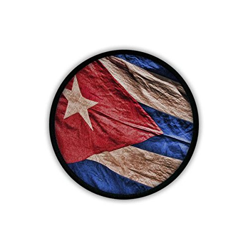 Copytec Patch/Aufnäher - Kuba Fahne Cuba Fidel Castro Havanna Revolution Karibik Republik Spanisch Staatsflagge Flagge Urlaub Fan Ehren Gedenken #19654