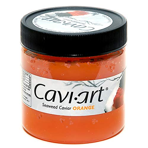 Caviart Award-winning VEGAN Seaweed Caviar 3.5 oz (ORANGE)