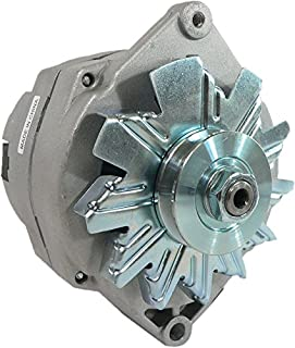 DB Electrical New ADR0335 Alternator for High Output GM Vehicles 1968-89, 1 Wire 12V 105 Amp 10Si Self-Exciting External Fan, 7127-SE105
