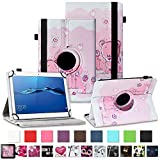 NAUC Huawei MediaPad T1 T2 T3 10 Tablet Hülle Tasche Schutzcase Cover 360° Drehbar Case, Farben:Motiv 2