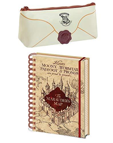 Harry Potter Hogwarts Brief Mäppchen and Marauders Map Notizbuch Stationär