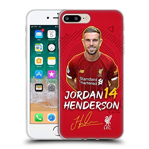Oficial Liverpool Football Club Jordan Henderson 2019/20 Primer Equipo Grupo 1 Carcasa de Gel de Silicona Compatible con Apple iPhone 7 Plus/iPhone 8 Plus