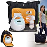 Zohzo Lauren Breast Pump Bag - Portable Tote Bag Great for Travel or...