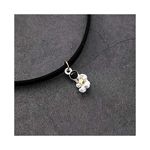 AdorabFruit Présent Pendentif Collar del Collar del Collar de Collar Colgante de Tela Negro Astronauta de la Vendimia for Las Mujeres Regalos (Metal Color : Style 2)