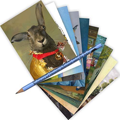 10-er Set Postarten A6 • MIX-0936 ''Postkarten-Set Ostern'' von Inkognito • Künstler: INKOGNITO