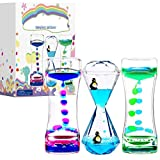 Calming Sensory Toys for Kids with Autism ADHD Anxiety or Special Needs-3 Pack Liquid Motion Bubbler Timers (Style #3)