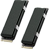 QIVYNSRY 2 Pack M.2 heatsink 2280 SSD Heat Sink 2Pack, Only Support Single-Sided 2280 M.2 SSD, with Thermal Silicone Pad for PS5 PCIE NVME M.2 SSD or NGFF SATA M.2 SSD Computer and PC, Green